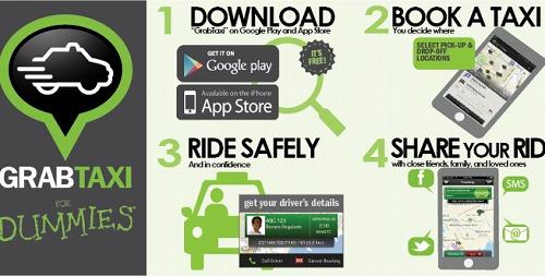 GRAB TAXI app