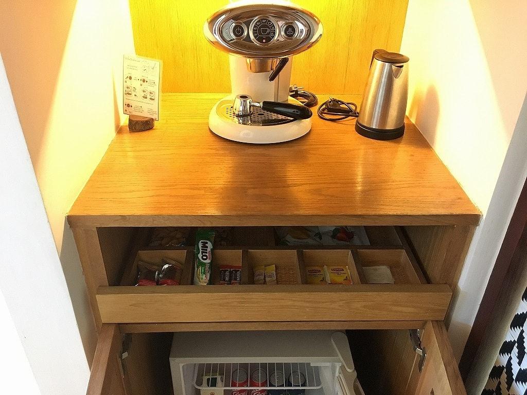 Cham's-Houseのコーヒーマシン