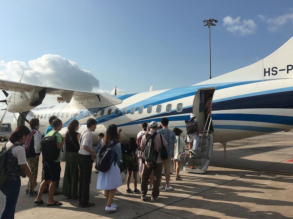 バンコクエアウェイズ、クート島行きの飛行機の画像