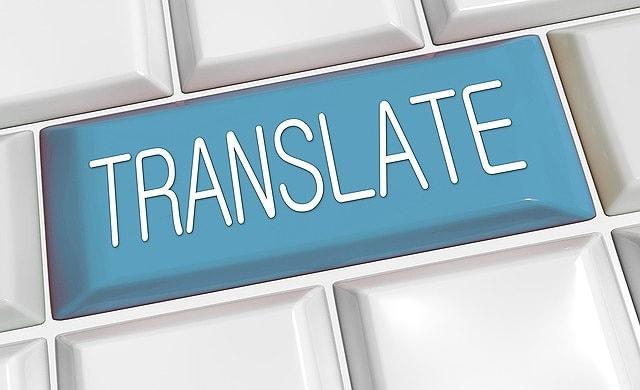 translate、翻訳の文字画像