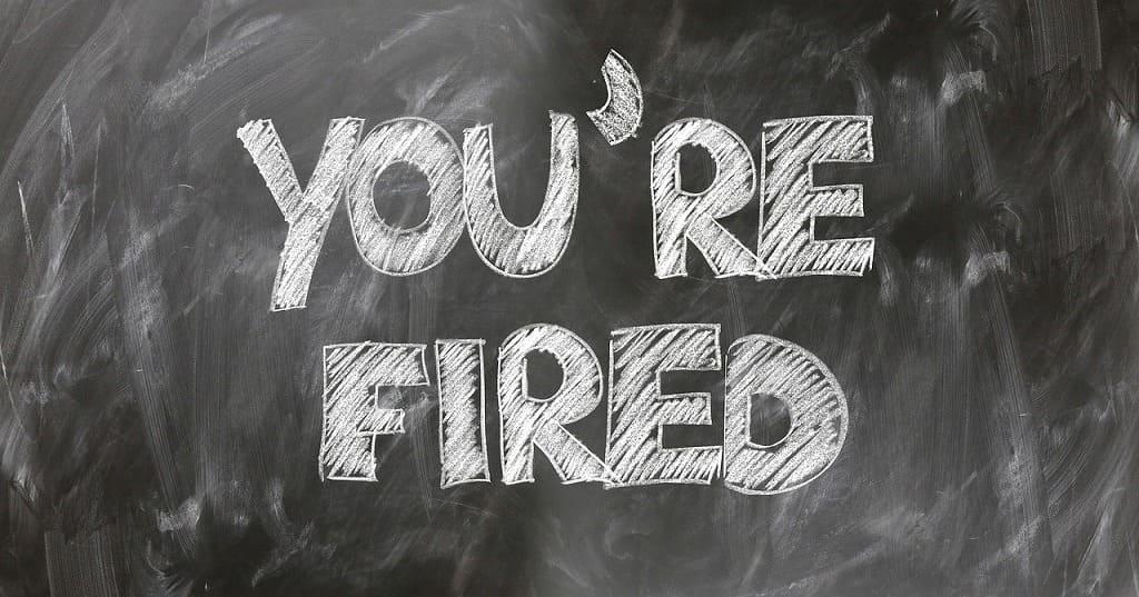 解雇の文字画像