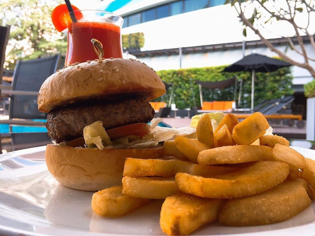 ウエスティンホテルのハンバーガーの写真