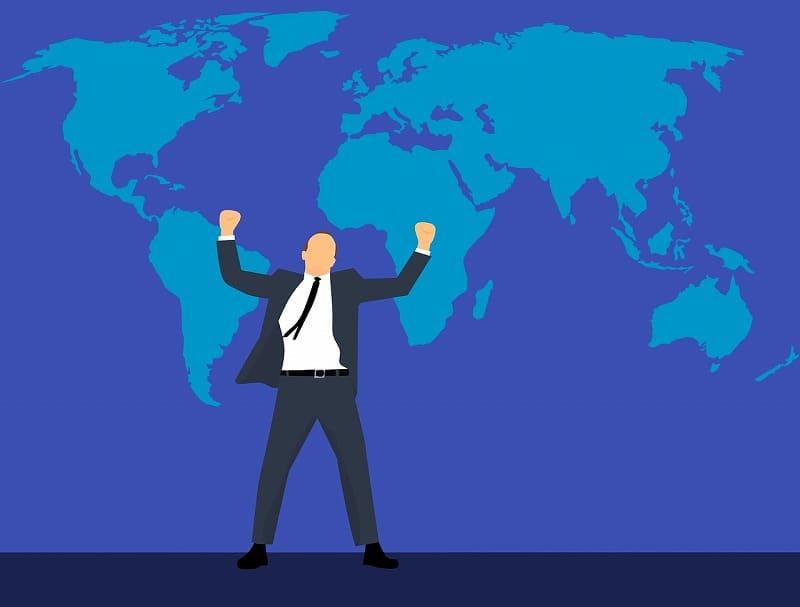 ビジネスマンがグローバルに活躍するイメージ