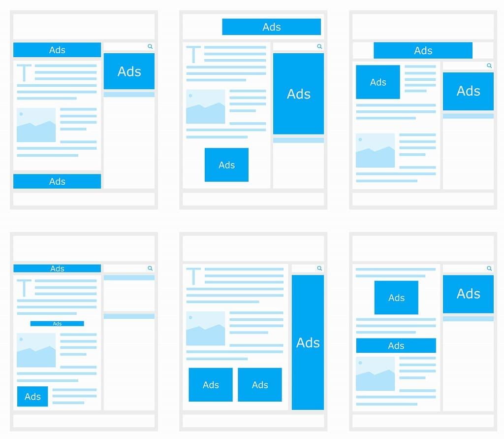 アドセンスの広告配置の画像