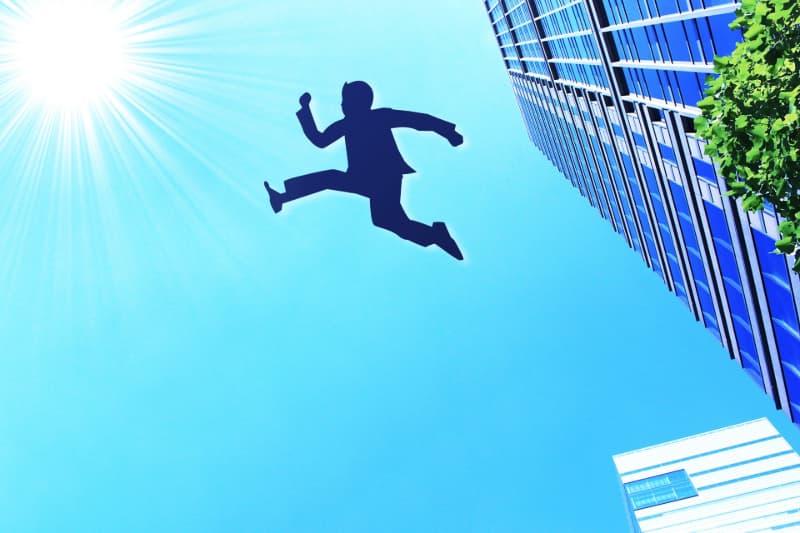ビジネスマンの飛躍