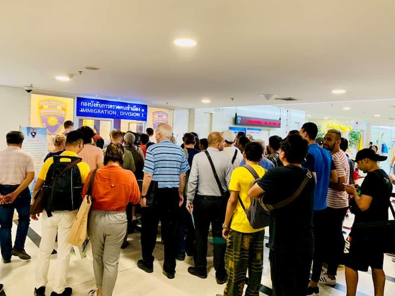 タイのイミグレーション(移民局)