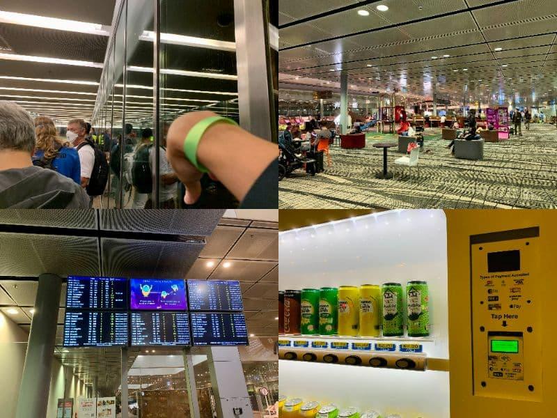 チャンギ空港のトランジットエリア